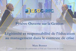 Légitimité et responsabilité de l'éducation au management dans le contexte de crise